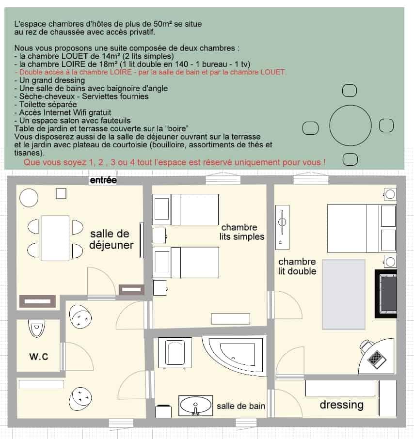 nos chambres d 39 h tes situ es la petite boire pr s d 39 angers. Black Bedroom Furniture Sets. Home Design Ideas