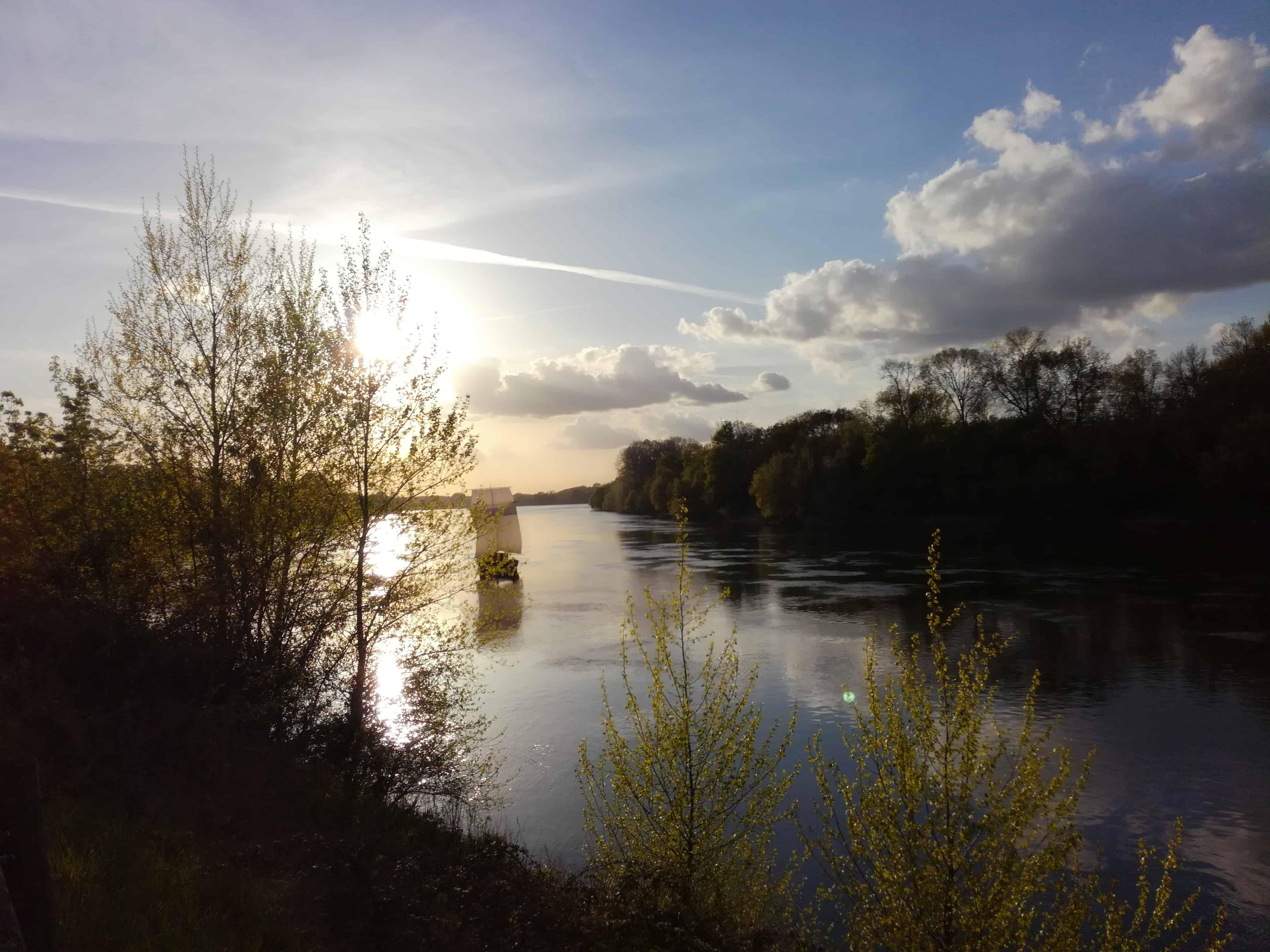 les bords de Loire à quelques mètres de la maison